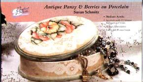 Schmitz, Susan: 11192 - Antique Pansy and Berries on Porcelain