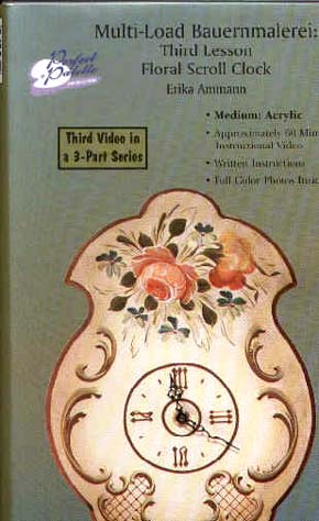 Ammann, Ericka: 11197 - Floral Scroll Clock Multi Load Pt.3
