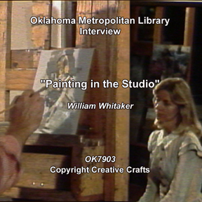 Whitaker, William: 7903 - Painting in the Studio