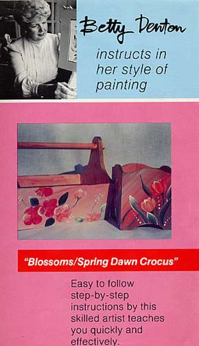 Denton, Betty: BD05 - Blossoms; Crocus-wood painting