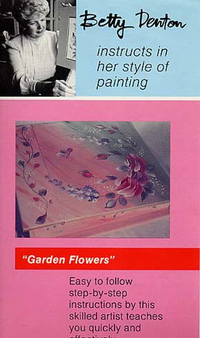 Denton, Betty: BD06 - Garden Flowers - Wood painting