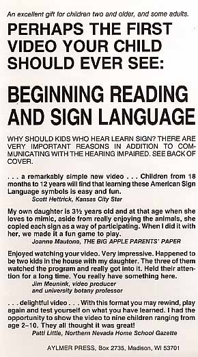Educational: BRS1 - Beginning Reading &amp; Sign Language