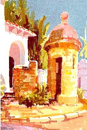 D'Esopo, Jan : DE01 - Old San Juan - Landscape