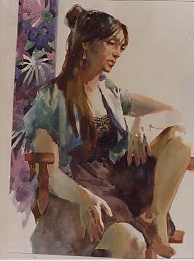 Labadie, George: GL56 Figure painting in Watercolor