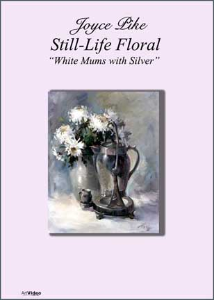 Pike, Joyce: JP2122 - White Mums with Silver