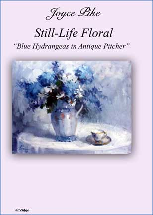 Pike, Joyce: JP2930 - Blue Hydrangeas in Antique Pitcher