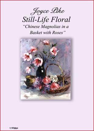 Pike, Joyce: JP3536 - Chinese Magnolias in Basket w/ Roses