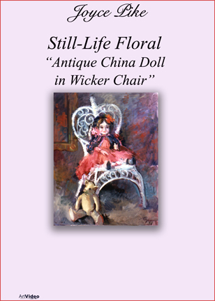 Pike, Joyce: JP3738 - Antique China Doll, Wicker Chair