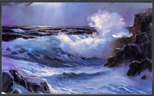 Robinson, E. John: JR105 - Painting the Moonlit Sea