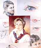 Simmons, Karen: KS3 - 1,2,3 of Portraits