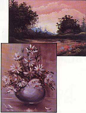Poulos, Norma: NP06 - Landscape in Mauve/Daisy, Daisy