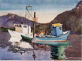 Scott, James Godwin: S5871 - Boats, Morning Light