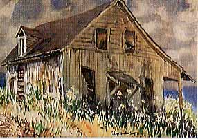 Scott, James Godwin: S5876 - Luminous Old Barn