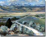 Swenson, Susan: SUS0102 - Landscape with Mountains