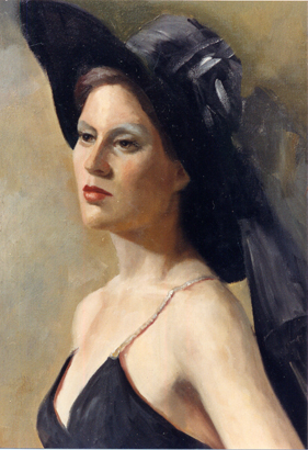 Swenson, Susan: SUS0708 - Lady with Black Hat