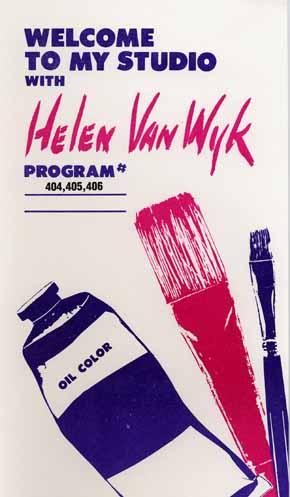 Van Wyk, Helen: VW404 - Drapery, Eyes, Flowers