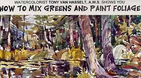 Van Hasselt, Tony: VH04 - How to Mix Greens & Paint Foliage